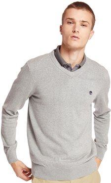 Williams River V Neck Sweater For Men In Grey Grey, Size 3XL