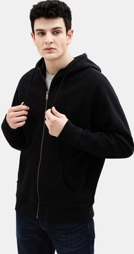 Exeter River Zip Up Hoodie For Men In Black Black, Size XXL