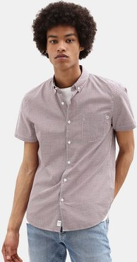 Eastham River Gingham Shirt For Men In Red Red, Size S