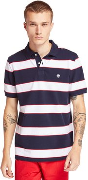 Millers River Striped Polo Shirt For Men In Navy Navy, Size 3XL