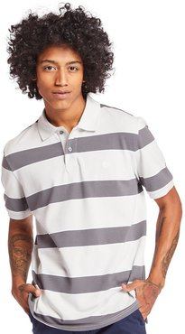 Millers River Striped Polo Shirt For Men In Light Grey Light Grey, Size L