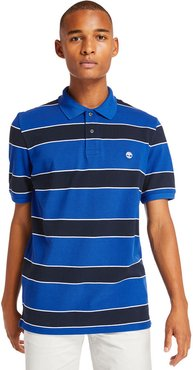 Millers River Striped Polo Shirt For Men In Blue Blue, Size 3XL