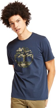 Kennebec River Camo Tree T-shirt For Men In Navy Navy, Size L