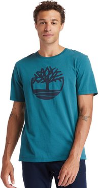 Kennebec River Tree Logo T-shirt For Men In Green Green, Size L