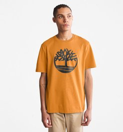 Kennebec River Tree Logo T-shirt For Men In Yellow Yellow, Size 3XL
