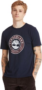 Little Cold River T-shirt For Men In Navy Navy, Size L