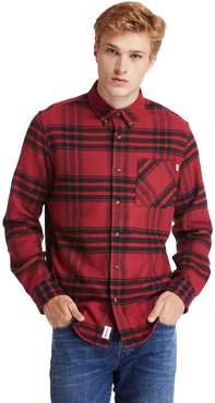 Back River Flannel Shirt For Men In Red Red, Size 3XL