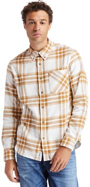 Back River Flannel Shirt For Men In Yellow Yellow, Size 3XL