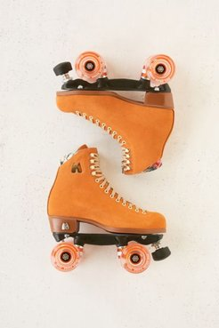 UO Exclusive Suede Roller Skates - Orange 4 at Urban Outfitters