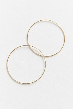 18k Gold + Sterling Silver Plated Large Hoop Earring