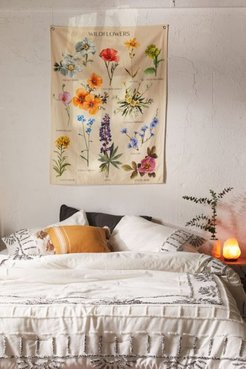 Botanical Wildflower Reference Chart Tapestry - Assorted at Urban Outfitters