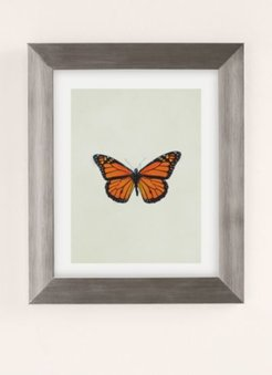The Queen Butterfly Art Print - Silver 18X24 at Urban Outfitters