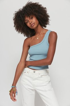 UO Ribbed One-Shoulder Tank Top