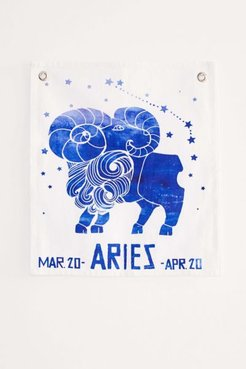 Graphic Zodiac Flag Tapestry - Zodiac at Urban Outfitters