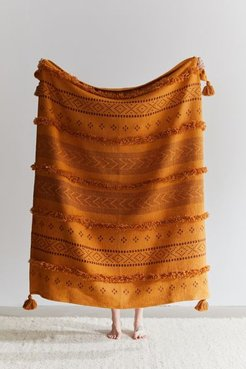 Sybil Tufted Throw Blanket - Gold at Urban Outfitters
