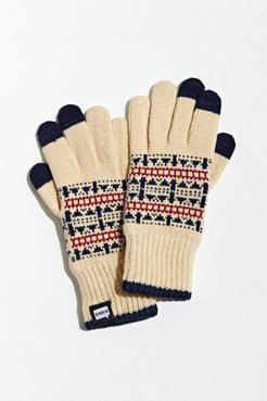Fair Isle Touch Screen Glove - Beige at Urban Outfitters