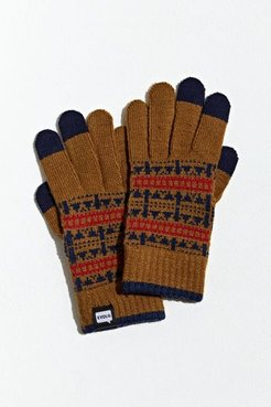Fair Isle Touch Screen Glove - Brown at Urban Outfitters