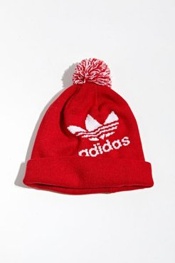 adidas Originals Pompom Beanie - Red at Urban Outfitters