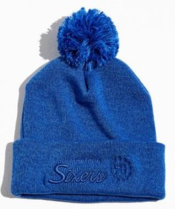 Philadelphia 76ers Tonal Pompom Beanie - Blue at Urban Outfitters