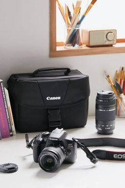 EOS Rebel T6 Double Zoom Lens DSLR Camera Kit - Black at Urban Outfitters