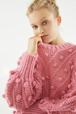Trade Places Pom Knit Sweater