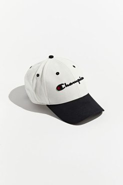 Champion UO Exclusive Classic Twill Colorblock Baseball Hat - White at Urban Outfitters