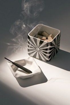 Ceramic Stash And Ash Set - Black at Urban Outfitters