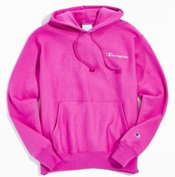 Champion Small Script Hoodie Sweatshirt - Purple S at Urban Outfitters