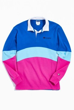 Champion Rugby Shirt - Blue S at Urban Outfitters