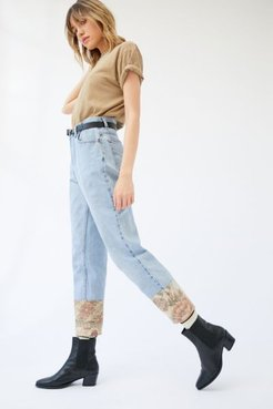 Urban Renewal Recycled Levi's Tapestry Cuff Blue Jean - Blue M at Urban Outfitters