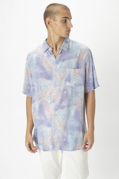 Sea Spray Holiday Short Sleeve Button-Down Shirt