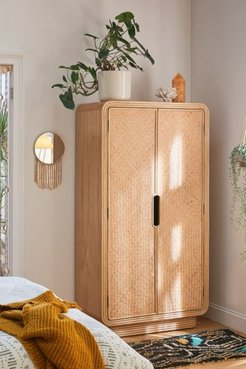 Ria Rattan Armoire - Beige at Urban Outfitters