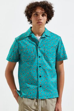 Night Jungle Vacation Short Sleeve Button-Down Shirt