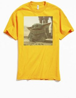Star Wars Mandalorian Poster Tee - Gold M at Urban Outfitters