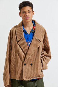 Cropped Corduroy Coat