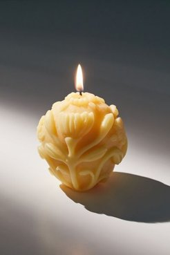 Floral Beeswax Candle - Yellow at Urban Outfitters