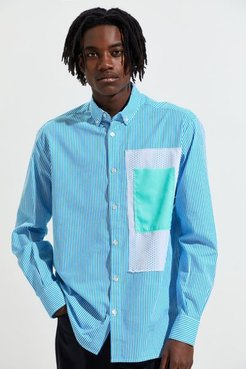 Stamped Button-Down Shirt