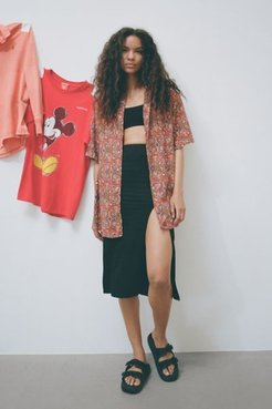 Vintage Oversized Abstract Print Shirt