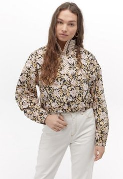 UO Floral Mixed Print Popover Jacket
