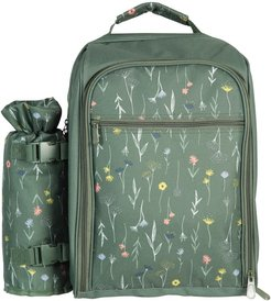 4 Person Picnic Set - Patterned - Green