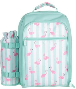 4 Person Picnic Set - Patterned - Teal