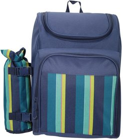 4 Person Picnic Set Patterned - XL - Navy/ Red/ Green/ Yellow