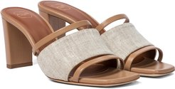 Demi 70 linen and leather sandals