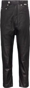 DRKSHDW lacquered cropped jeans