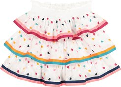 Poppy embroidered cotton skirt