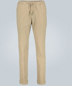 Phil brushed cotton-twill pants