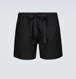 Relaxed-fit linen and cotton shorts