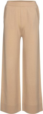 Wool and cashmere wide-leg pants