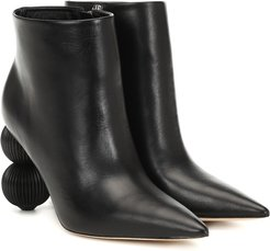 Cam leather ankle boots
