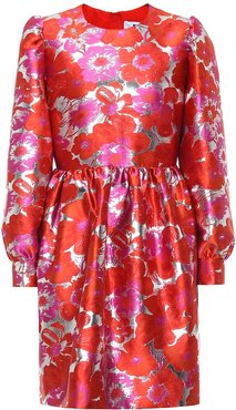 Floral brocade minidress